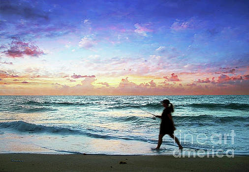 Treasure Coast Florida Seascape Dawn D6 by Ricardos Creations