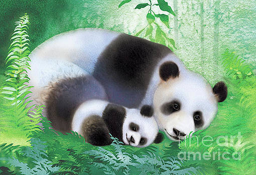 Treasure Garden Pandas by Tracy Herrmann