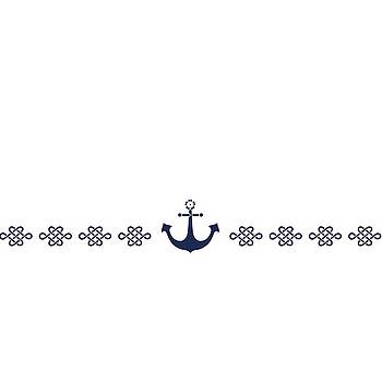 Treasure knot and anchor in blue by Helga Novelli