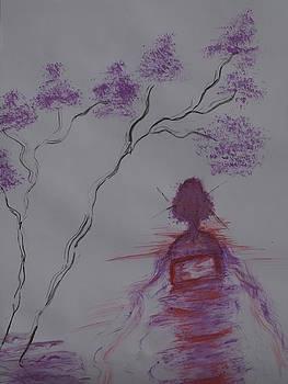 Tree and Gheisha by Iancau Crina