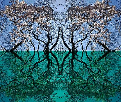 Tree Gate between Water and Sky Worlds by Julia Woodman