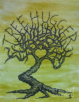 Tree Hugger Love Tree by Aaron Bombalicki