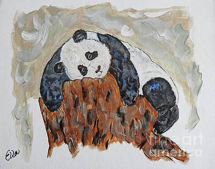 Tree Hugging Baby Panda original painting by Ella Kaye Dickey