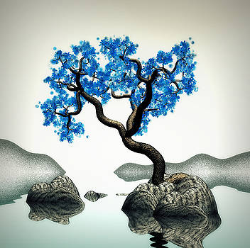 Tree In Blue by GuoJun Pan