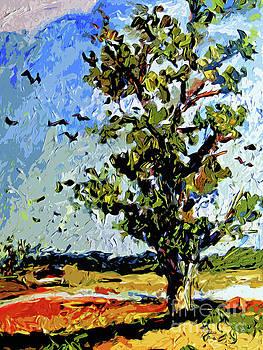 Ginette Callaway - Tree in Summer Sun Mixed Media