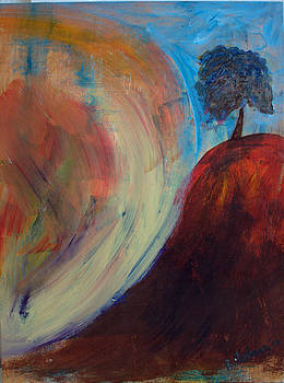 Tree in Sunny Hill by Martine Bilodeau