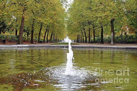 Jost Houk - Tree Lined Fountain