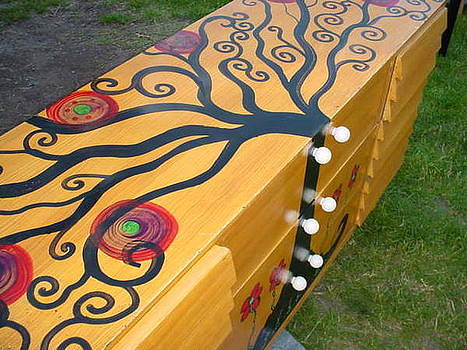 Tree Of Life 9 Drawer Dresser by Rick Cheadle