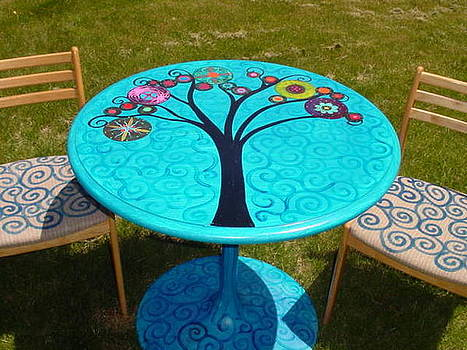 Tree of Life Bistro Set by Rick Cheadle