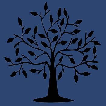Tree Of Life - Blue by Sandy Scharmer