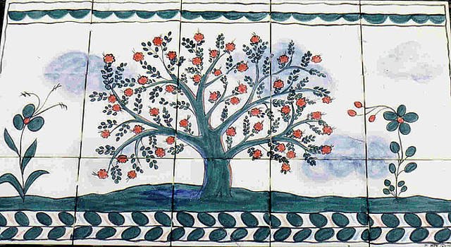 Tree of Life--Portuguese Folk Art Style by Dy Witt