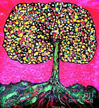 Tree of many Colors by Darlyne Sax