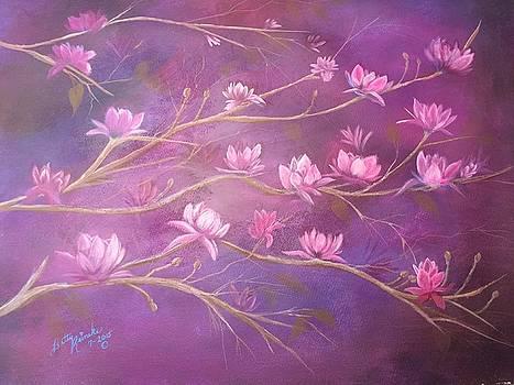 Tree of Tulips  by Betty Reineke