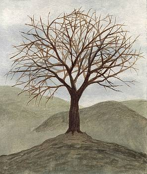 Tree on a Hill by Chris Hall