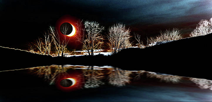 Mike Breau - Tree Reflections Landscape-solar eclipse 2017