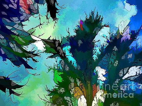 Robyn King - Tree Spirit Abstract Digital Painting