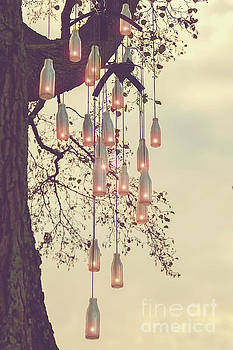 Sophie McAulay - Tree with bottle candles
