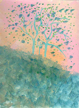 Trees Blooming by Helene Henderson