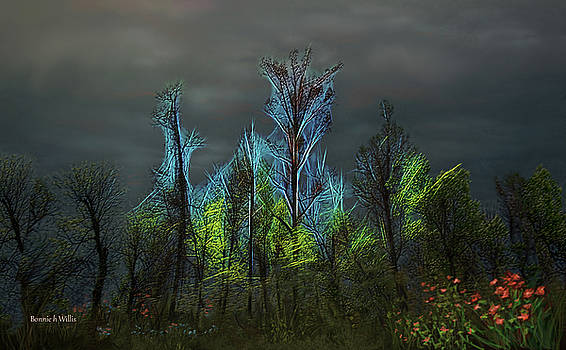 Trees Electrified in Fantasy land by Bonnie Willis