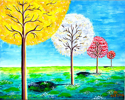 Trees In Color by Yong-Shing Sin