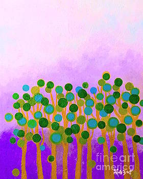 Trees in purple by Wonju Hulse