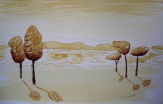 Trees On Shore by Maina  Kabiru