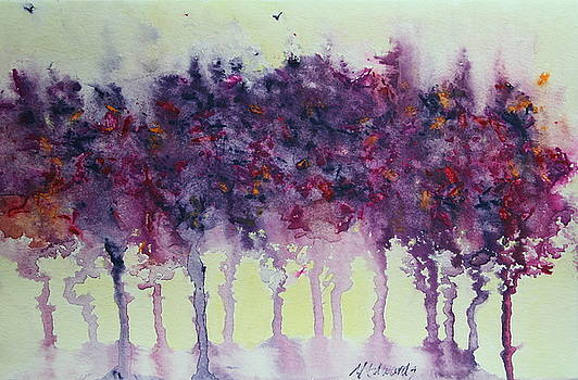 Trees with Hummingbird by Marna Edwards Flavell