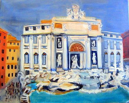 Trevi fountain by Lia Marsman