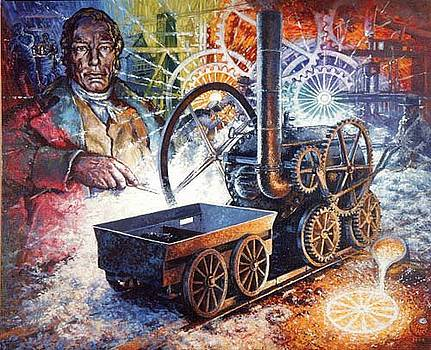 Trevithick 200 - Original Acrylic Painting by Stephen Warnes