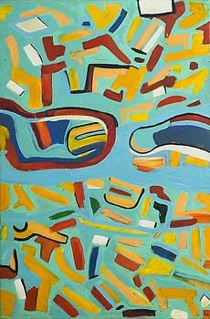 Untitled  Oil on canvas 2004 23 x 36 by Radoslaw Zipper