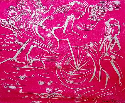 Tri in Hot Pink by Sandy Ryan