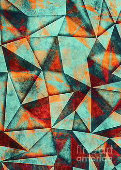 Justyna Jaszke JBJart - triangles blue