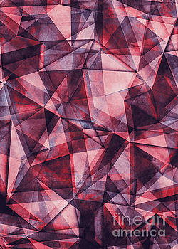 Justyna Jaszke JBJart - Triangles purple