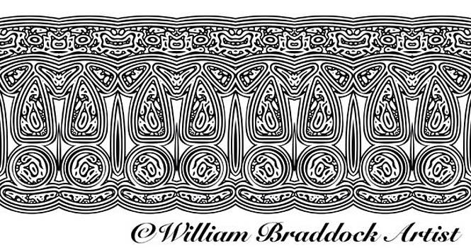 Tribal border pattern by William Braddock