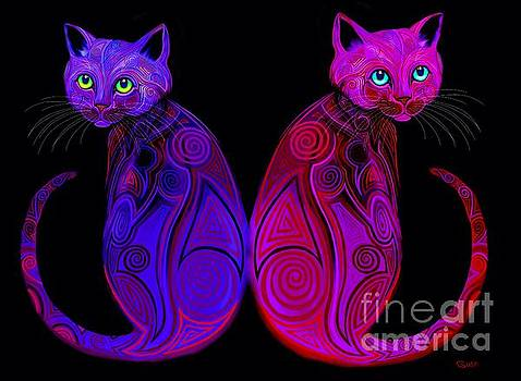 Tribal Cats by Nick Gustafson