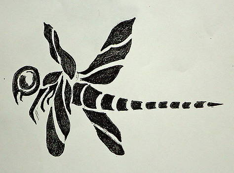 Tribal Dragonfly by Pete Maier