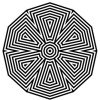 Tribal Flower Mandala by Paul Sober