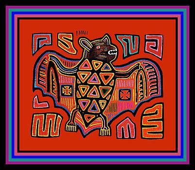 Tribal Kuna Indian Bat by Vagabond Folk Art - Virginia Vivier