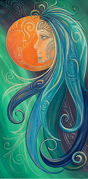 Tribal Moon Goddess Tahi by Reina Cottier