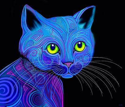 Tribal Rainbow Cat by Nick Gustafson