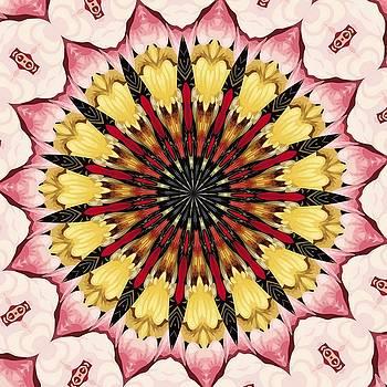 Tribal Spears and Fading Hearts Mandala by Tracey Harrington-Simpson