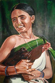Tribal Woman by Sreenivasa ram Makineedi