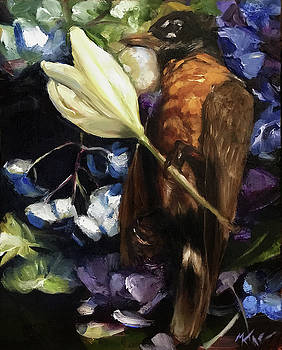 Tribute to a Robin by Margot King
