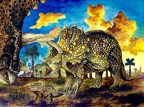 Triceratops by Gabriel Cajina