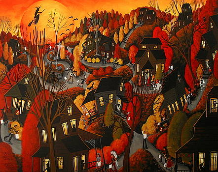 Trick Or Treat 2015 - Halloween landscape by Debbie Criswell