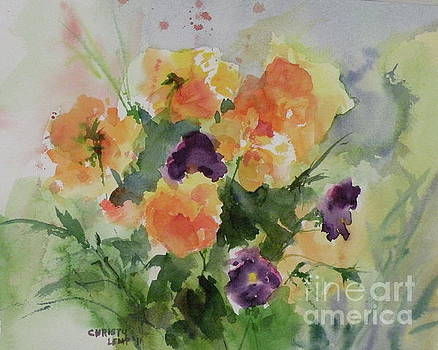 Trick or Treat pansies by Christy Lemp