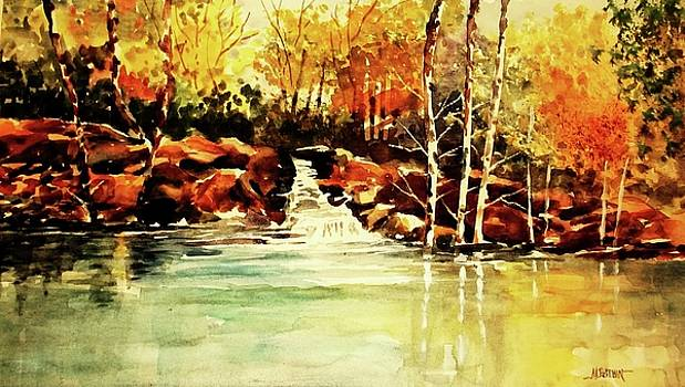 Trickling Spring in Autumn by Al Brown