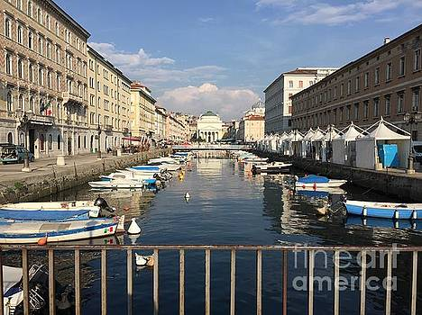 ITALIAN ART - Trieste Grand Canal