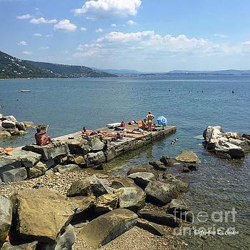 Trieste Miramare Beach by Italian Art
