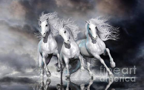 Trinity Galloping Horses Blue by Shanina Conway